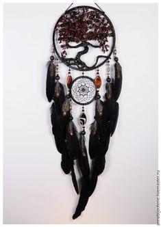 Купить Brown Dream Catcher Tree of life Dreamcatcher brown obsidian - ловец снов