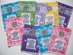 heARTfully inspired by Linda: Garden Themed Prayer Flags
