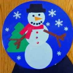 Interactive Paper Plate Crafts- Snowboarding Downhill