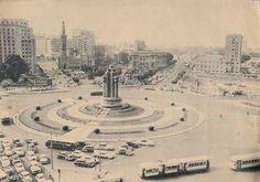 ميدان التحرير 1963 Old Egypt, Ancient Egypt, Vintage Pictures, Old Pictures, Tahrir Square, Cairo, Paris Skyline, Travel, Arabic Calligraphy