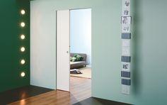 Syntesis SD - Eclisse Single Frameless Pocket Door. For further information visit http://www.em-b.co.uk/products/door-solutions/pocket-door-systems/pocketdoors-product-range/