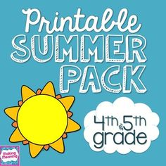 "Print and go (to the beach!): NO PREP summer packet- just print and send home with students to help them keep up their skills all summer long. Teachers say they ""love the variety of kid friendly activities,"" it was ""the first time I have gotten summer packets back,"" and they are ""getting great feedback from the parents!"" $"