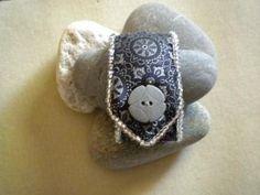 Black Silk Cuff Bracelet