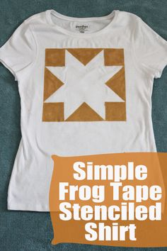 Simple Frog Tape Stenciled Shirt