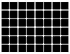 Optical Illusions, how many dots do you see O_o