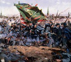 ACW Union: The Irish Brigade advances on the Confederate Line at the Battle of Fredericksburg, by Don Troiani. (www.dontroiani.com)