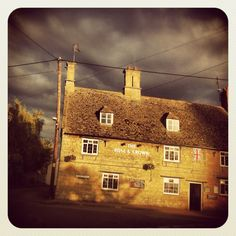 Country pubs at home in a local village. I love the contrast of the weather here! Stormy Britain!