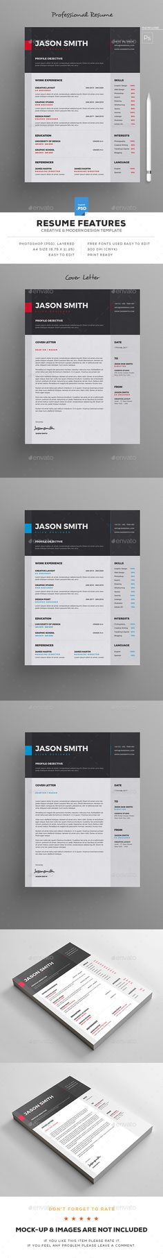 #Resume - Resumes Stationery Download here: https://graphicriver.net/item/resume/19344060?ref=alena994