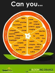 A Blooming Orange. Digital image. Blooming Orange: Bloom's Taxonomy Helpful Verbs Poster.