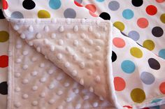 Baby Blanket Toddler Blanket Polka Dot by GiftsForBabies on Etsy, $45.00