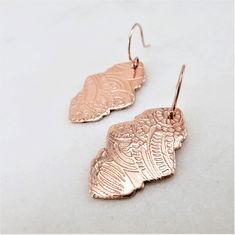 Bridesmaid Earrings, Bridal Earrings, Boho Earrings, Rose Gold Drop Earrings, Round Earrings, Sleeper Earrings, 14k Gold Jewelry, Art Deco Earrings, Small Rose