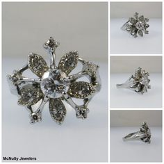 Our Master Jeweler created this white gold and diamond ring for our client using her heirloom diamonds. It's now a modern, wearable piece that includes diamonds from beloved family members. McNulty Jewelers original design