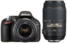 Nikon Digital Single-lens Reflex Camera D5200 Double Zoom Kit Af-s Dx Nikkor 18-55mm F/3.5-5.6g Vr / Af-s Dx Nikkor 55-300mm F/4.5-5.6g Ed Vr Black D5200wzbk. Accessories 1: Li-ion rechargeable battery EN-EL14 Accessories: 2 battery charger MH-24, USB Cable UC-E17 Accessories 3: Audio Video Cable EG-CP16, Strap AN-DC3 Accessories 4: Body cap BF-1B, Accessory Shoe Cover BS-1 5 accessories: eyepiece cap DK-5, mercenary eyepiece DK-20, ViewNX 2 CD-ROM GN2 of built-in flash: about 13 manual…