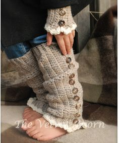 CROCHET PATTERN-Florence Warmer Set Toddler Child and Adult
