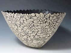 Artists to study: Peter Saenger- surface decoration.  Could use with slip trailing.