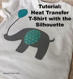 DIY First Birthday Heat Transfer T-Shirt with the Silhouette CAMEO - Simply Stavish