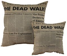 HorrorDecor.net - The Dead Walk Throw Pillow - Small and Large http://horrordecor.net/products/the-dead-walk-throw-pillow-small-and-large