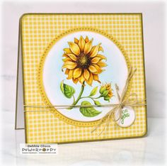 Sunflower Power Digital Stamp Set | Power Poppy by Marcella Hawley