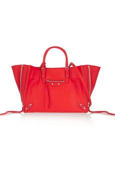Balenciaga Papier A6 textured-leather shoulder bag   NET-A-PORTER