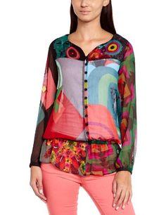 In Offerta! #Offerte Abbigliamento#Buoni Regalo   #Outlet Desigual - Nati Maglietta, manica lunga, donna, Rosso (Rot (Rojo Fresa)), XS disponibile su Kellie Shop. Scarpe, borse, accessori, intimo, gioielli e molto altro.. scopri migliaia di articoli firmati con prezzi da 15,00 a 299,00 euro! #kellieshop #borse #scarpe #saldi #abbigliamento #donna #regali