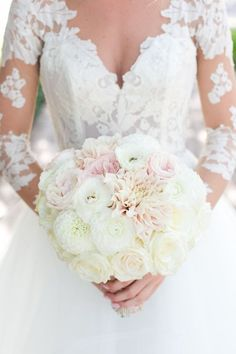 Hailey Paige Gown + Gorgeous florals = the perfect wedding combo!