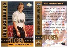 Joe Montana 1994 Upper Deck Motor Sports 135 Pit Crew (Gold)
