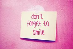 Dont forget to smile. When you #smile you release #happy endorphins making you feel #happy. Try #smiling at people today and see how many #smiles you get back and the effect it has on people.Its contagious so #watch out you could be in for an #awesome day!