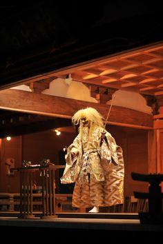 Demon, Noh performance, Kitazawa Hachiman Matsuri