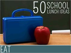 50 School Lunch Ideas - For more creative ideas for kids lunches LIKE US on Facebook @ https://www.facebook.com/SchoolLunchIdeas