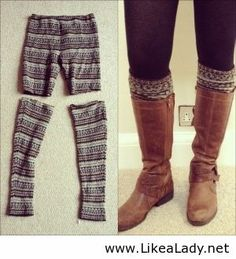 For all those ugly patterned leggings that are super cheap at the store