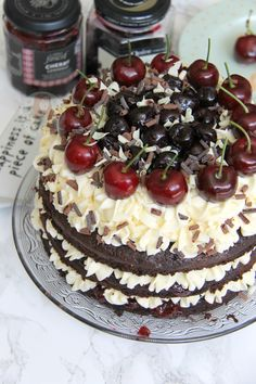 A Three Layer, Chocolate and Kirsch Sponge, with Vanilla Buttercream, and all things Cherry and Chocolate. My delicious Black Forest Gateau! I have recently found my love for all things Black Forest with the help of my Black Forest Brownies and my No-Bake Black Forest Cheesecake, I thought it was about time to post a Cake Version. I will say from the beginning that this is my version and interpretation of a Black Forest Gateau, and I loooove it, but its not the most classic attempt ever. I…
