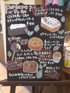 Pation board of Food in Japanese