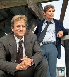 True Detectives / HBO Martin Hart (by Woody Harrelson) & Rust Cohle (by Matthew McConaughey)