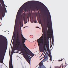 Cute Anime Pics, Cute Anime Couples, Anime Love, Pusheen, Hyouka Chitanda, Matching Profile Pictures, Anime Japan, Cartoon Wallpaper, Matching Icons