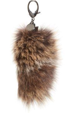 Rebecca Minkoff Genuine Fox Tail Fur Bag Charm Rebeccaminkoff