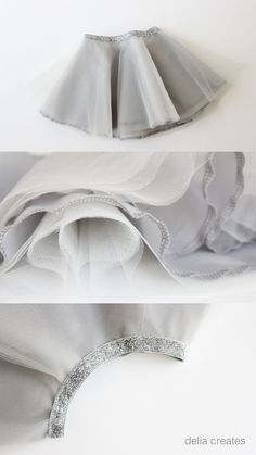 Gray Day Tulle Skirts//