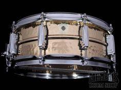 Ludwig 14 x 5 Hammered Bronze Supraphonic Snare Drum