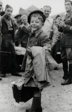 Lulek Lau, 8 year old male orphan, one of the youngest survivors of Buchenwald concentration camp - 1945