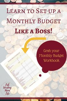 Create a monthly budget with this printable - think through all your expenses and add up your income to see where your money is actually going each month.