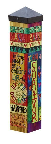 Durable garden poles are innovative reproductions of original hand painted artwork. Simple messages with vivid color are displayed for a unique garden accent. Set garden poles near a pathway, by the f Peace Pole, Garden Poles, Pole Art, Small Space Gardening, Unique Gardens, Hand Painting Art, Garden Painting, Garden Crafts, Garden Ideas