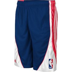 hot sale online c718e 90585 NBA Logo Flash Navy Blue Adidas Basketball Shorts
