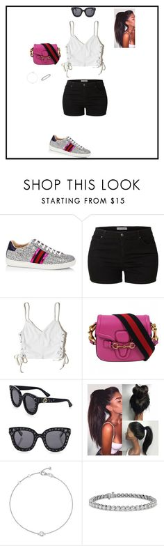 """Untitled #181"" by sb187 ❤ liked on Polyvore featuring Gucci, LE3NO, Hollister Co., Bloomingdale's and Blue Nile"