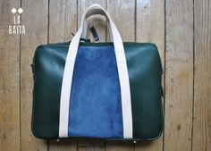 BOB fw15-16 briefcase, labaita, la baita, leather, green, blue, laptopcase, man, homme