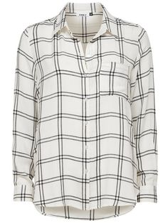 CHECKED LONG SLEEVED SHIRT, Cloud Dancer