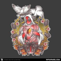 Ave Deadpool.  Click on the link in the bio NOW to get this tee - ''Holypool'' by AutoSave  #RIPTapparel #RIPT  #Geek #Nerd #GeekLife #NerdLife #Nerdgasm  #Tee #Tshirt #Style #GraphicTee #Outfit #OutfitOfTheDay #InstaFashion #GeekStyle  #Design #Art #GeekArt #NerdArt