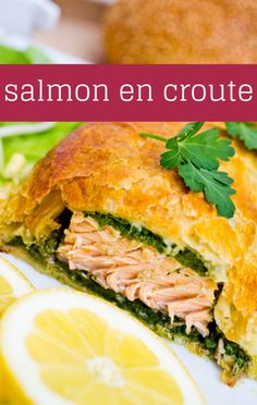 Rachael Ray shared her puff pastry idea for a Garlic-Herb Salmon en Croute Recipe, served with a custom herb blend and a Fennel Cucumber Salad on the side. http://www.foodus.com/rachael-garlic-herb-salmon-en-croute-recipe-fennel-cucumber-salad/
