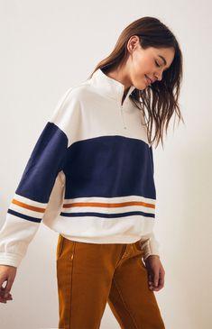 7202ec368e LA Hearts Jersey Taped Half Zip Sweatshirt