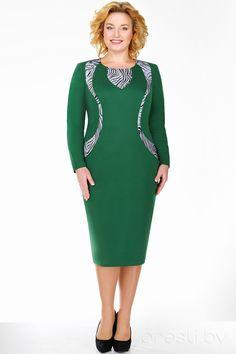 Платье Ivelta plus 1487 зеленые тона