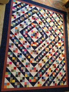 What is your favorite pattern when using scraps?  Bonnie Hunter's pattern Blue Ridge Beauty.