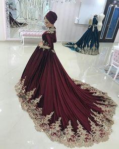 Sitios de ropa Hijab en Europa, www. Muslim Wedding Gown, Muslimah Wedding Dress, Muslim Wedding Dresses, Pakistani Bridal Dresses, Bridal Lehenga, Wedding Gowns, Formal Dresses, Bridal Hijab, Bridal Outfits